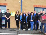Emergency defibrillator in place at Woodlands Court – thanks to local generosity