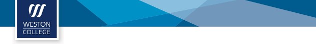Weston College Banner Image